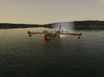A water takeoff in X-Plane 10
