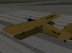 The Antonov An-2 on the runway