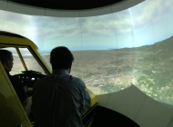 Testing the AT-802 sim with X-Plane. Note that you can see the entire height of the projected images, along with most of the width.