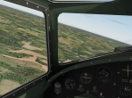 Looking out the cockpit of the B-17G