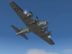The B-17G in a fly-by