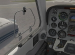 The 3-D cockpit of the Beechcraft Baron 58 in X-Plane 10