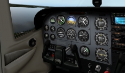 The 3-D cockpit in X-Plane 10's Cessna 172