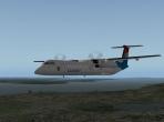 The De Havilland Dash 8 in flight