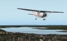 The Cessna 172 SP in X-Plane 10 on a final approach