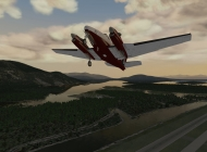 Taking off in the King Air C90B