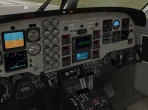 The 3-D cockpit of the Beechcraft King Air C90B in X-Plane 10