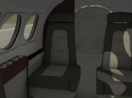 The cabin of the Beechcraft King Air C90B in X-Plane 10