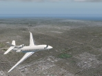Soaring over the LA area in the Falcon 7X business jet