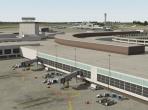 An international airport in X-Plane 10