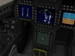 The 3-D cockpit in the Lockheed Martin/Boeing F-22 Raptor of X-Plane 10