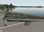 X-Plane 10's Northrop B-2 Spirit on the runway