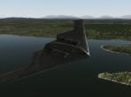 The Northrop B-2 Spirit soaring through the skies of X-Plane 10