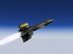 The North American X-15, rocketing skyward