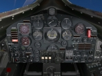 The cockpit of X-Plane 10's North American X-15