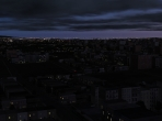 An X-Plane 10 city at night