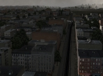 A grungy city street in X-Plane 10