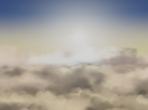 A view of the sun from above the clouds