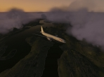 X-Plane 10's Boeing 777 in the twilight sky