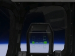 The head-up display (HUD) of the Space Shuttle Orbiter