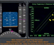 Space Shuttle's EFIS display, complete with instructions for a succesful approach