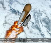 Climbing to the outer reaches of the atmosphere in the Space Shuttle app