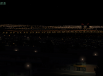 An X-Plane 10 city, seen from a distance at night