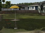 A suburban back yard in X-Plane 10