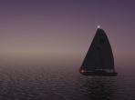 A sailboat in X-Plane 10