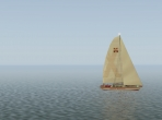 A sailboat in X-Plane 10
