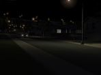 Suburbs at night