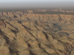 An X-Plane 10 canyon scenery, near KGCN