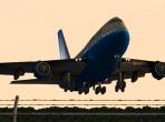 The 747 at sundown