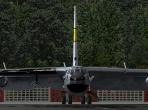 The B-52 seen head-on