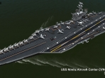 The deck of the USS Nimitz CVN-68 model from Khamsin Studios, to be included in X-Plane 10