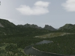 A natural landscape in X-Plane 10