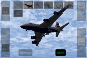 An Airbus A380 coming in for a landing in X-Plane Airliner