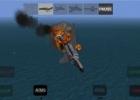 An F-4 Phantom being shot down in X-Plane Carrier