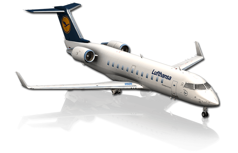 The CRJ airliner featured in X-Plane 10 Mobile for iPhone & iPad